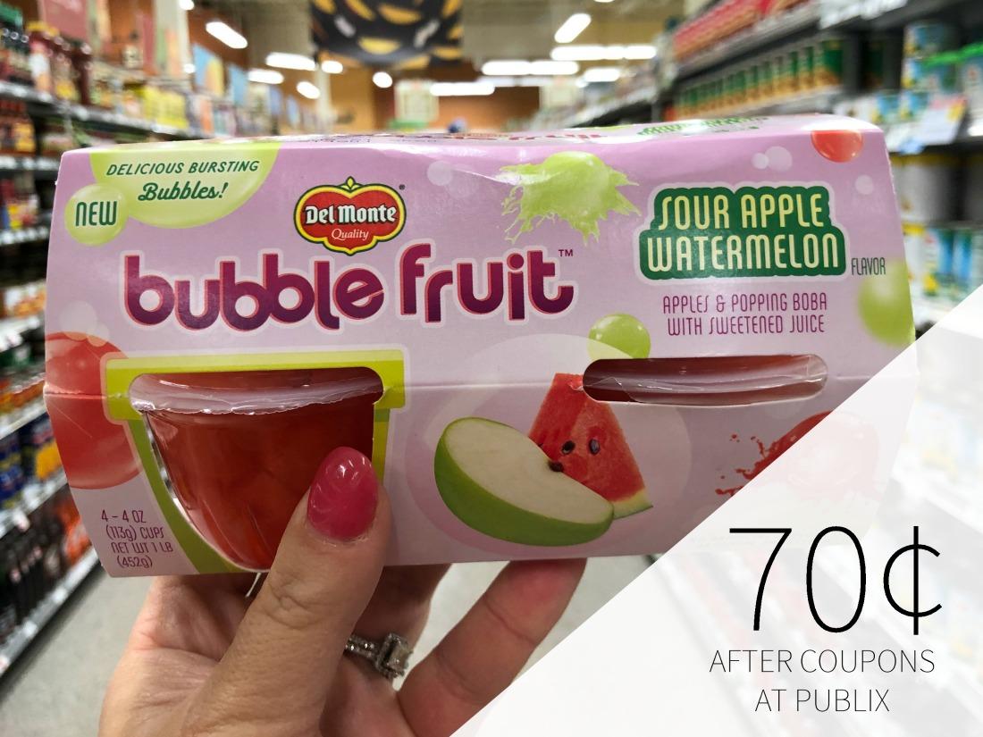 Del Monte Bubble Fruit Just 70¢ Per Pack At Publix on I Heart Publix 1