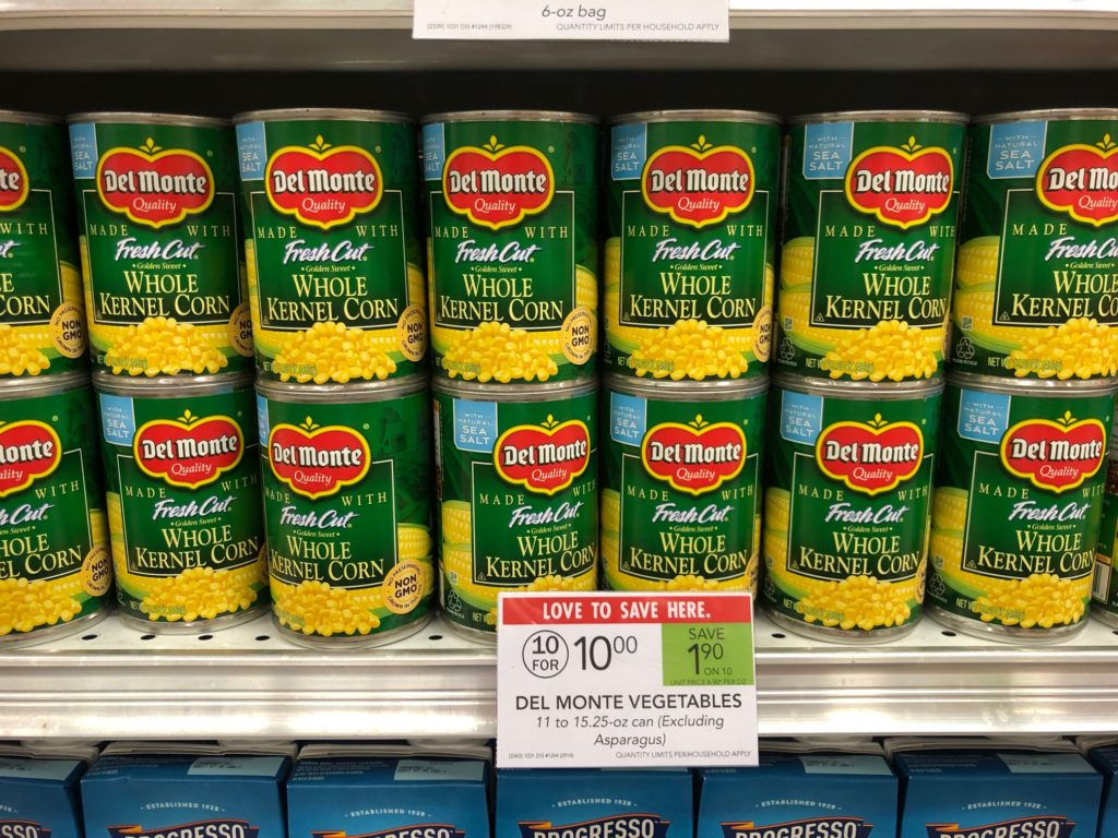 Del Monte Vegetables Only 88¢ At Publix on I Heart Publix