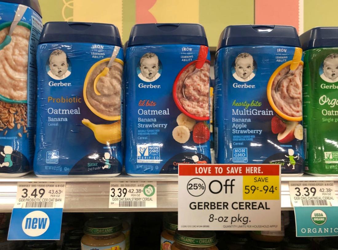 Gerber Cereal Just $1.96 AT Publix on I Heart Publix