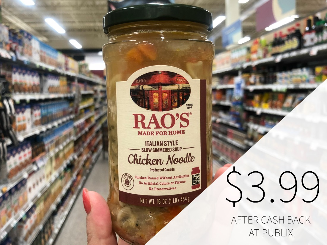 New Rao's Soup Ibotta Cash Back Offer on I Heart Publix 1