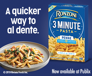 Ronzoni banner on I Heart Publix