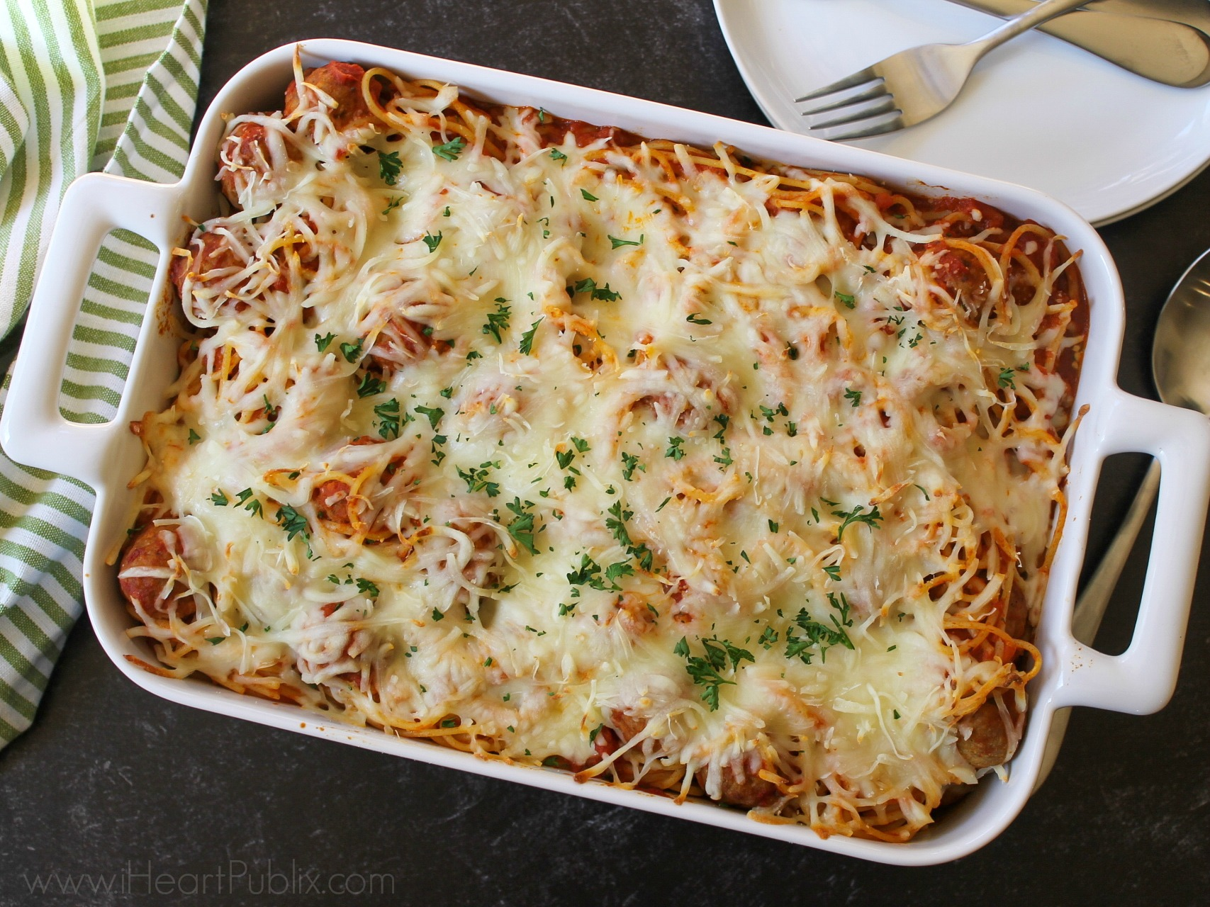 Baked Spaghetti Meatballs Super Meal To Go With The Sales At Publix