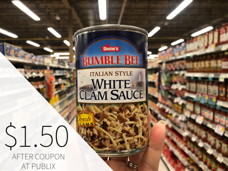 Bumble Bee White Clam Sauce Just $1.50 At Publix on I Heart Publix 1
