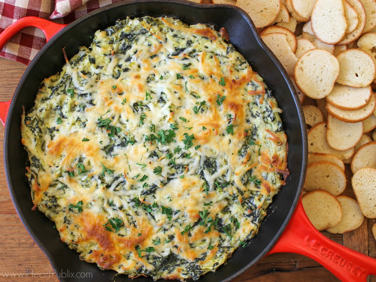 Easy Spinach Artichoke Dip on I Heart Publix