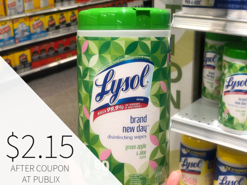 Lysol Disinfecting Wipes Just $2.15 At Publix on I Heart Publix