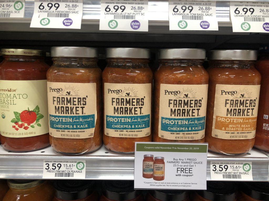 Prego Farmer's Market Sauce on I Heart Publix