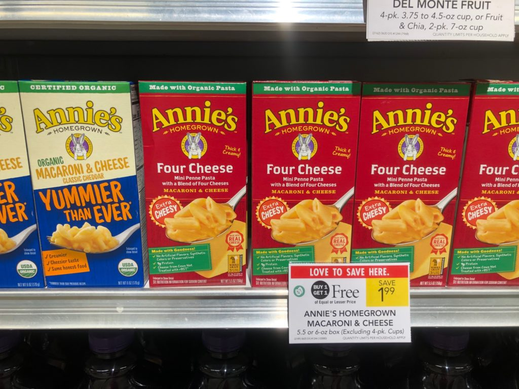 Annie's Homegrown Macaroni & Cheese Just 50¢ At Publix on I Heart Publix