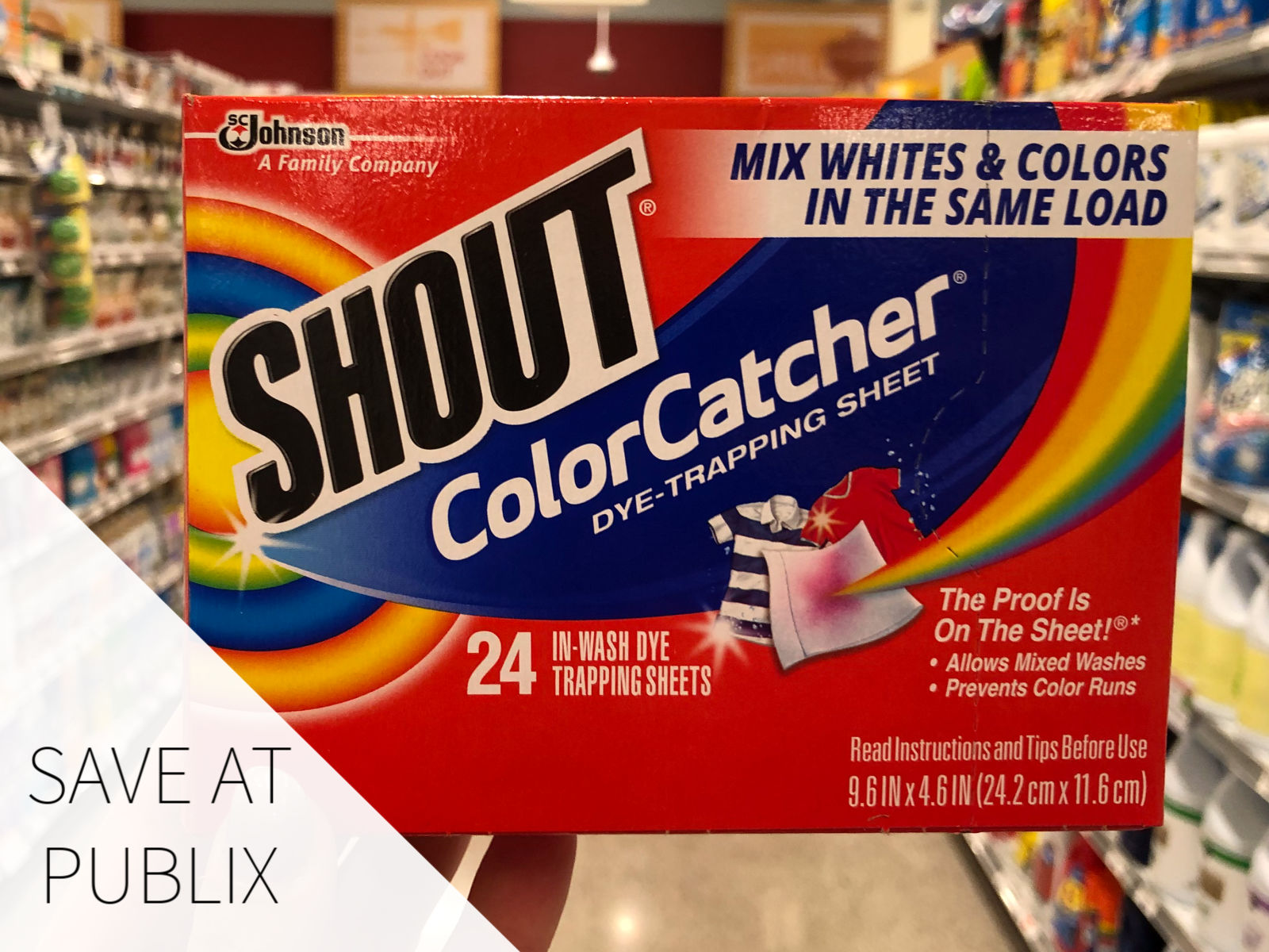 Keep Your Holiday Clothes Looking Great With Shout® Color Catcher® on I Heart Publix