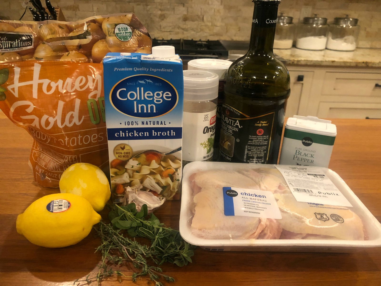 Roasted Greek Chicken With Potatoes - Super Meal To Go With The Sales At Publix on I Heart Publix