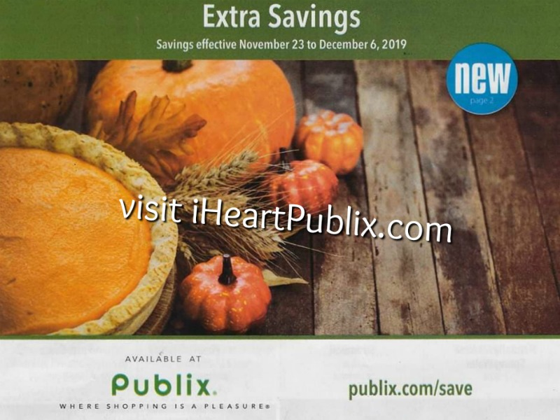 """Publix Grocery Advantage Buy Flyer – """"Extra Savings"""" Valid 11/23 to 12/6 on I Heart Publix"""