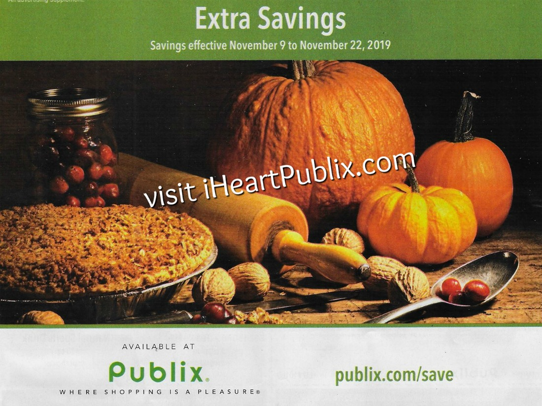 "Publix Grocery Advantage Buy Flyer – ""Extra Savings"" Valid 11/9 to 11/22 on I Heart Publix"