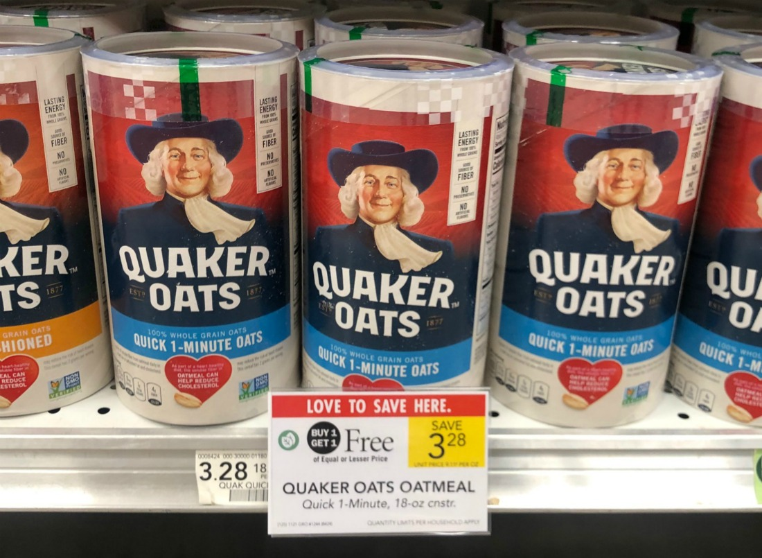 New Quaker Oats Coupon For Publix BOGO Just $1.15 Per Canister on I Heart Publix