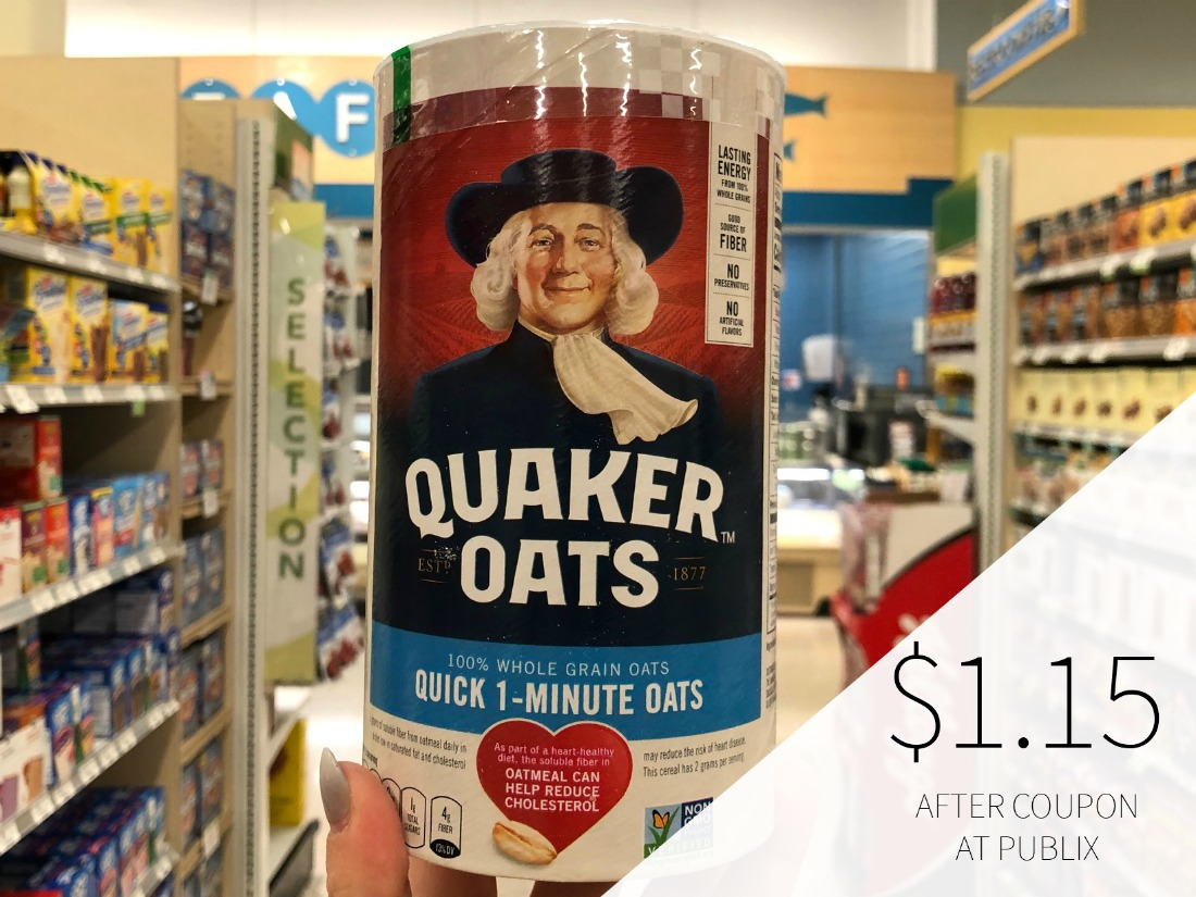New Quaker Oats Coupon For Publix BOGO Just $1.15 Per Canister on I Heart Publix 1