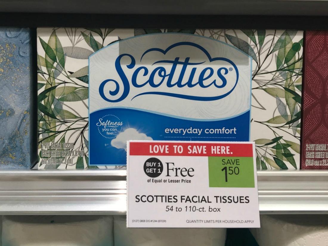 Scotties Facial Tissues Only 50¢ Per Box At Publix on I Heart Publix