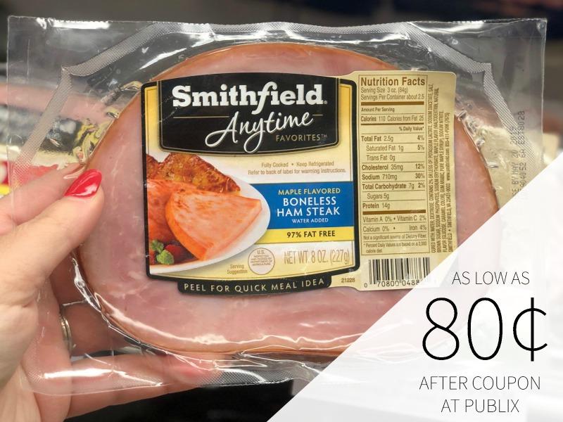 New Smithfield Digital Coupon For Publix BOGO - Ham Steaks As Low As 80¢ on I Heart Publix 1