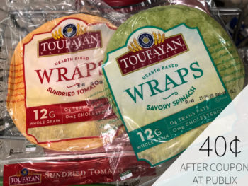 Can't Miss Deal On Toufayan Wraps At Publix - BOGO Sale Make Each Package Just $1.15 on I Heart Publix