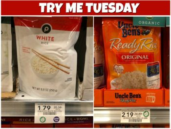 Try Me Tuesday - Publix White Rice Pouch on I Heart Publix