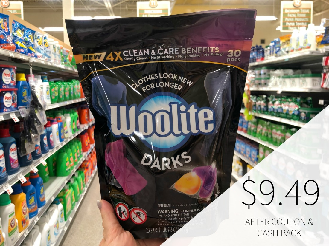 Woolite Dark Pacs or Clean & Care Pacs Save $4 At Pulbix on I Heart Publix 1