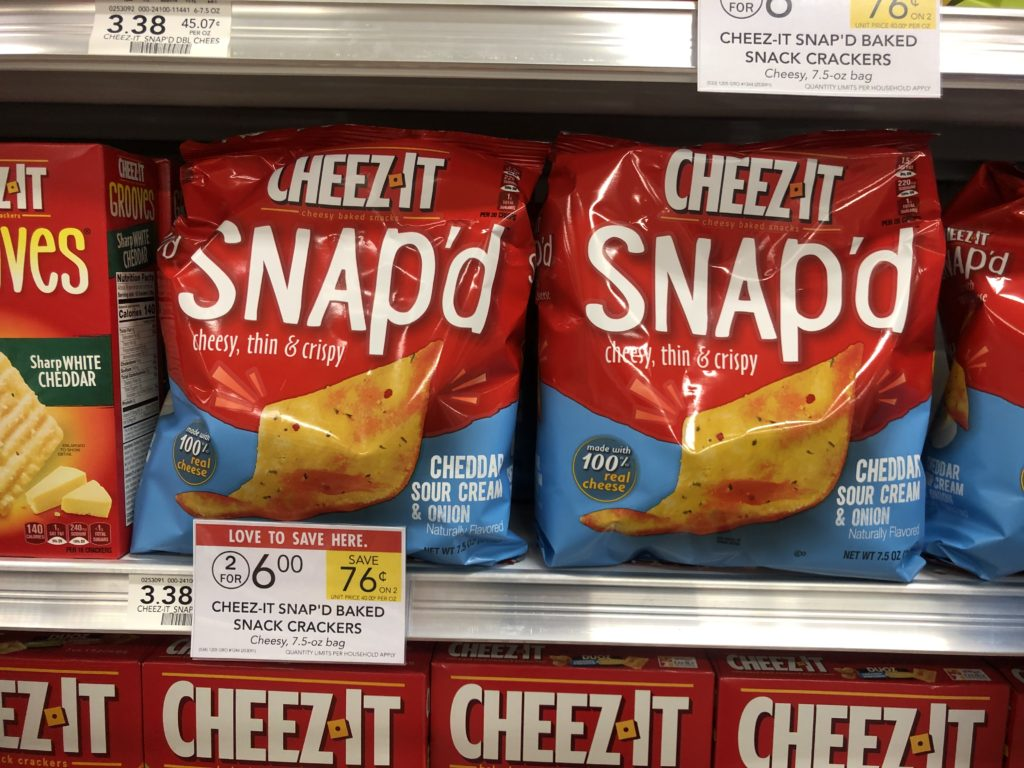 Cheez-It Snap'd Only $2 At Publix on I Heart Publix
