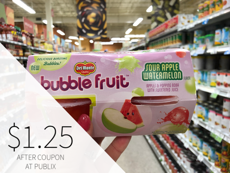 Del Monte Bubble Fruit on I Heart Publix