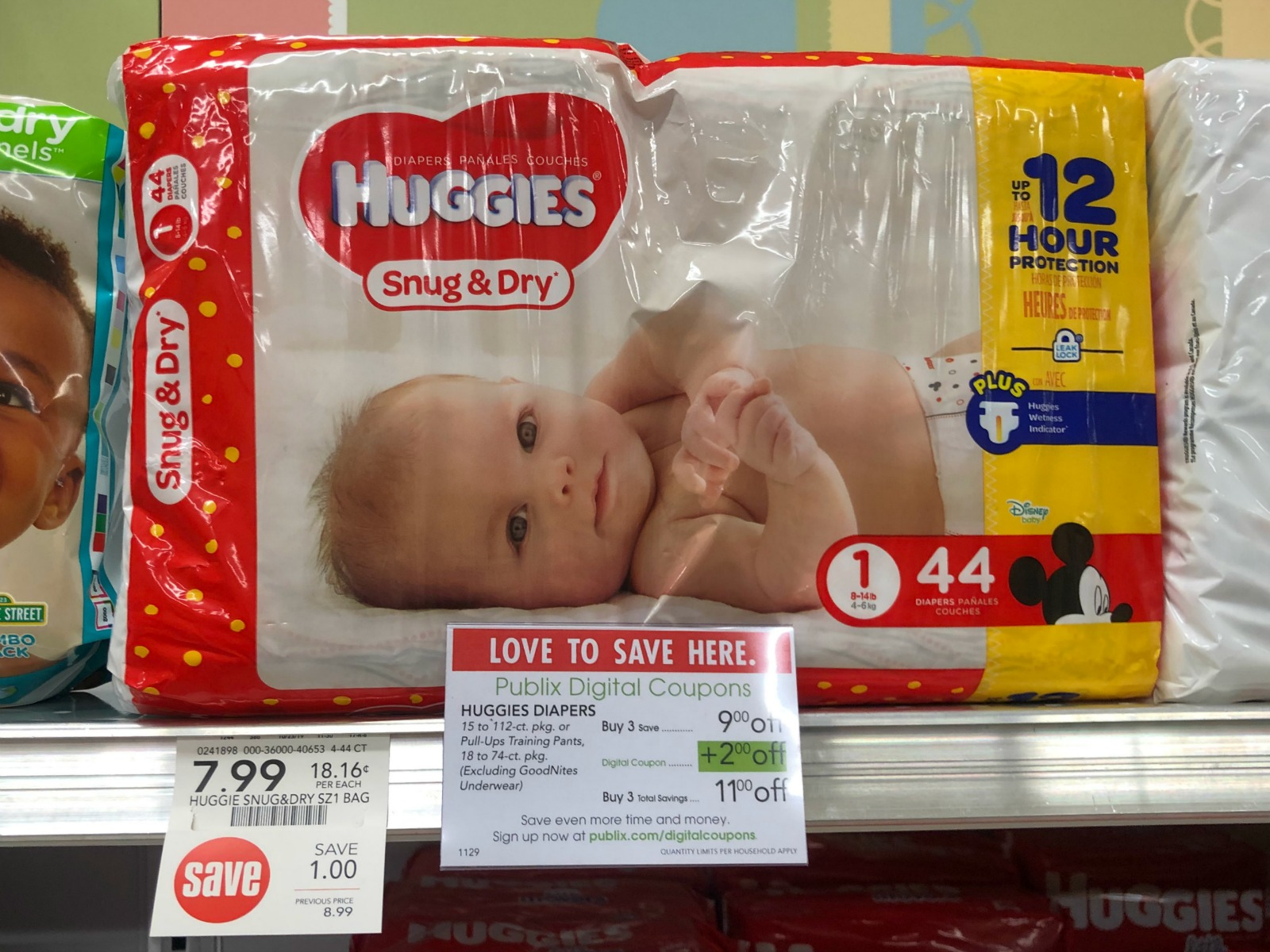 Huggies Diapers Only $3.99 Per Pack At Publix on I Heart Publix