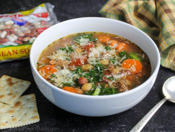 Italian Bean Soup With Sausage & Kale + Reminder To Enter My Hurst Beans Giveaway! on I Heart Publix