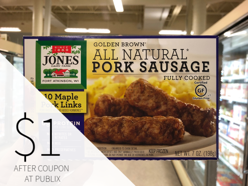 Jones Dairy Farm Golden Brown Sausage Products Only $1 At Publix on I Heart Publix 1