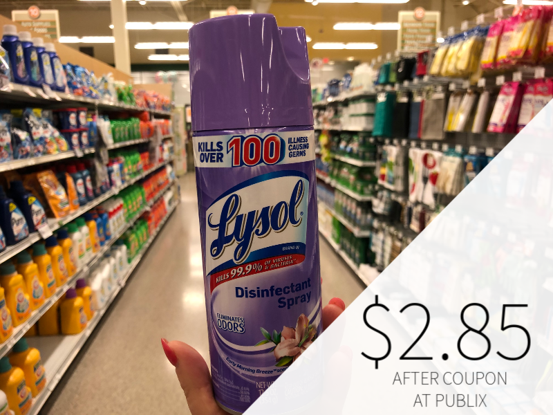 Lysol Disinfectant Spray Only $2.60 At Publix on I Heart Publix