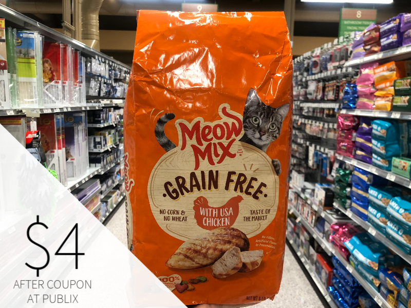 Meow Mix Cat Food Only $4 At Publix on I Heart Publix