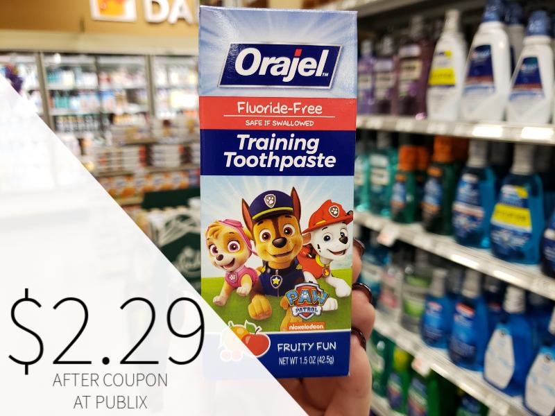 Orajel Training Toothpaste on I Heart Publix 1