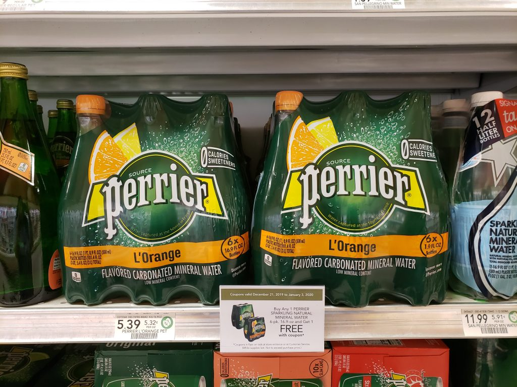 Perrier Sparkling Natural Mineral Water Just $2.20 At Publix on I Heart Publix