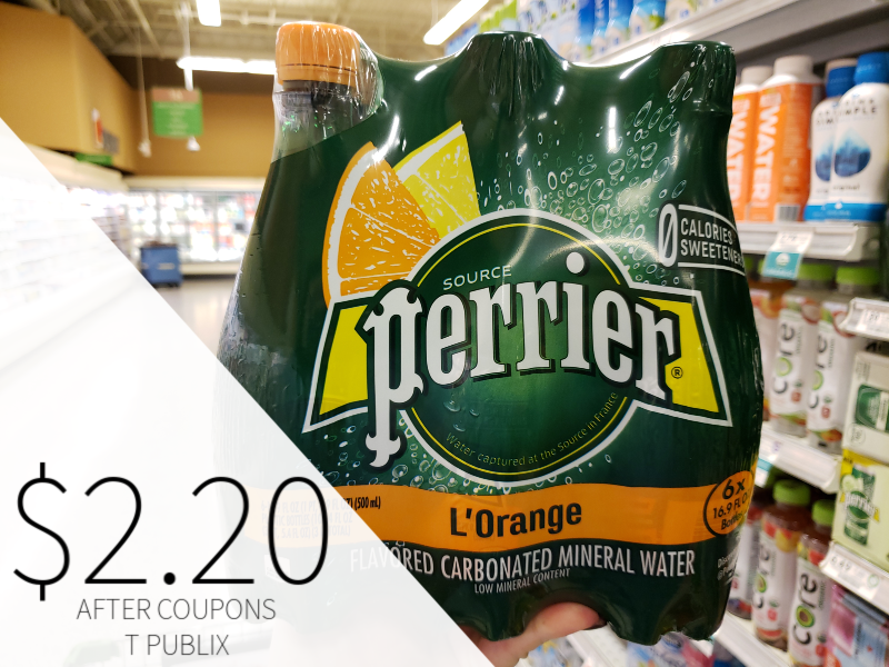 Perrier Sparkling Natural Mineral Water Just $2.20 At Publix on I Heart Publix 1