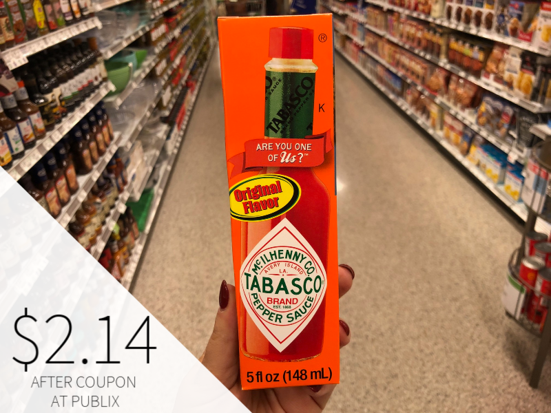 Tabasco Pepper Sauce Only $2.14 At Publix on I Heart Publix 1