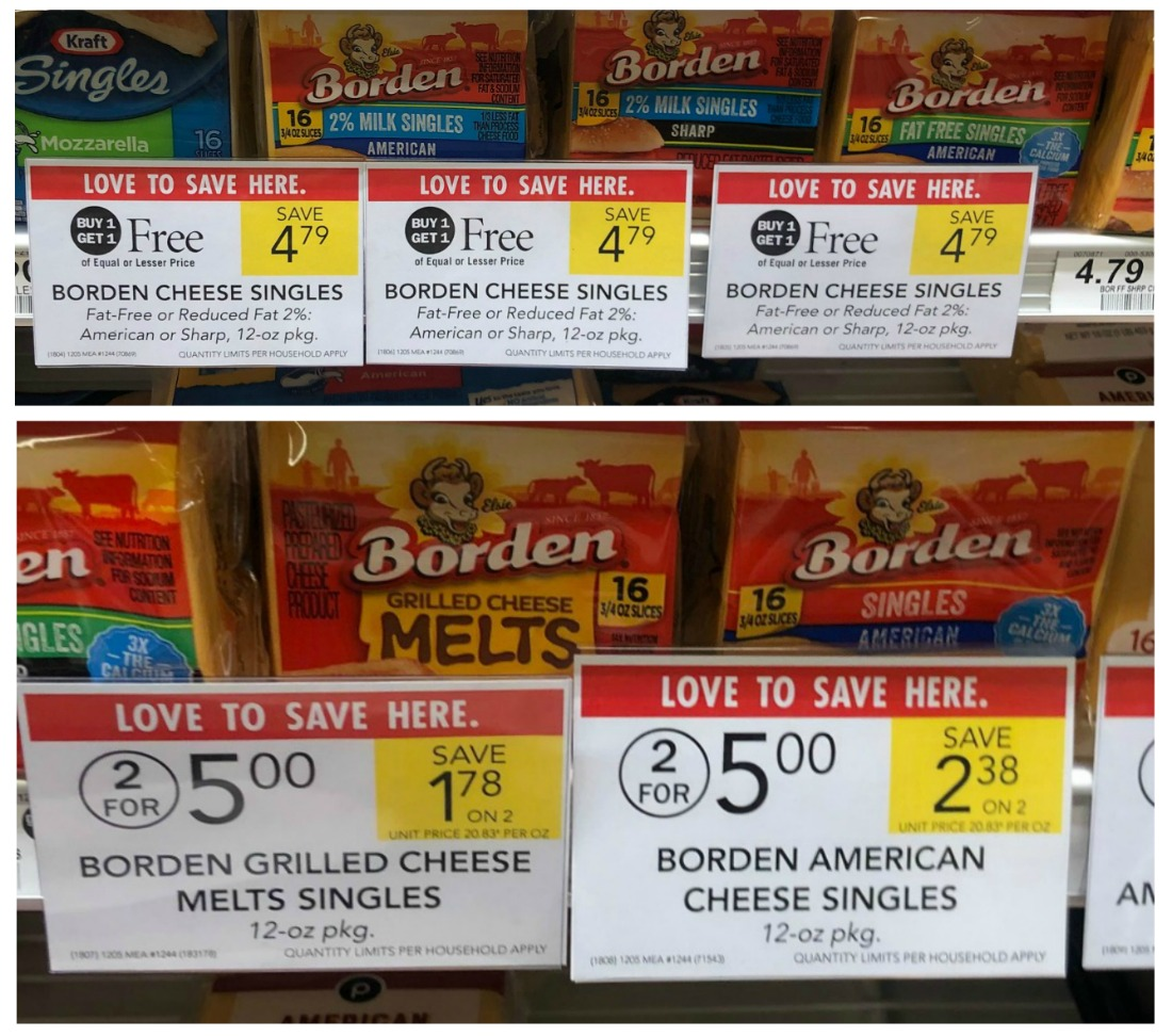 Borden Cheese Singles Just $1.90 Per Pack At Publix on I Heart Publix