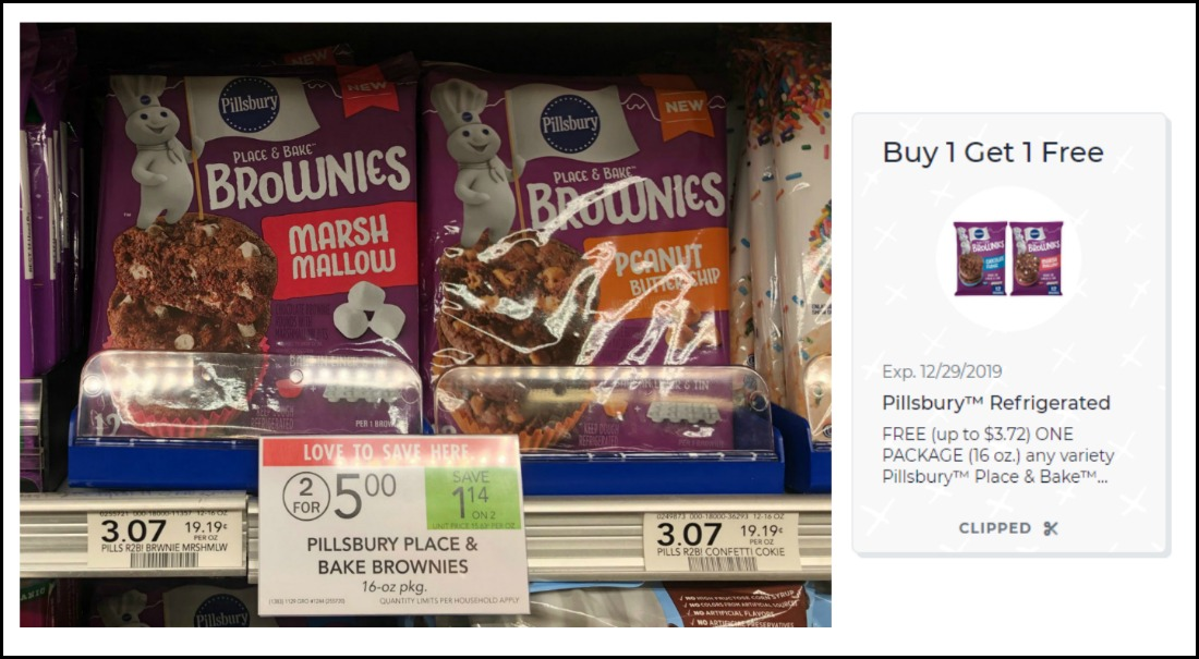 New BOGO Pillsbury Brownies Digital Coupon For Publix Sale - Just $1.25 on I Heart Publix