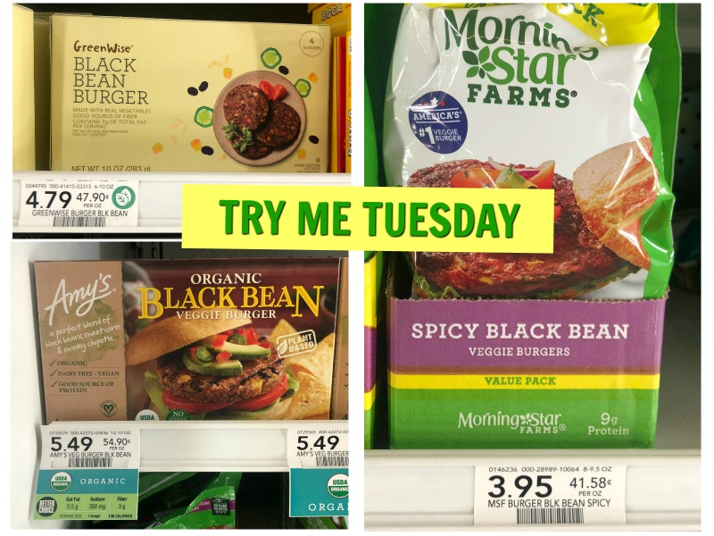 Try Me Tuesday - Publix Black Bean Veggie Burgers on I Heart Publix