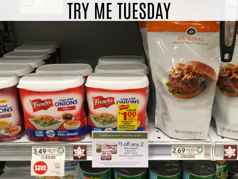 Try Me Tuesday - Publix French Fried Onions on I Heart Publix