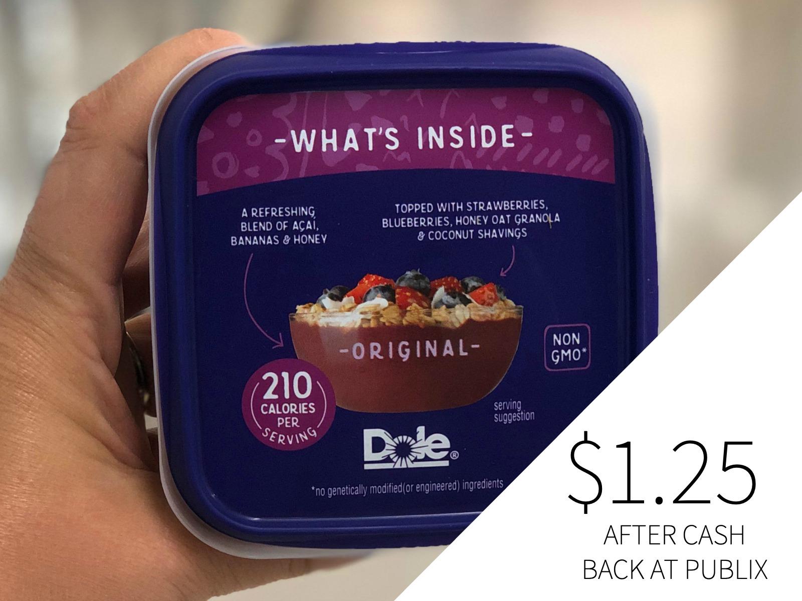 Dole Açaí Bowl As Low As 25¢ At Publix on I Heart Publix