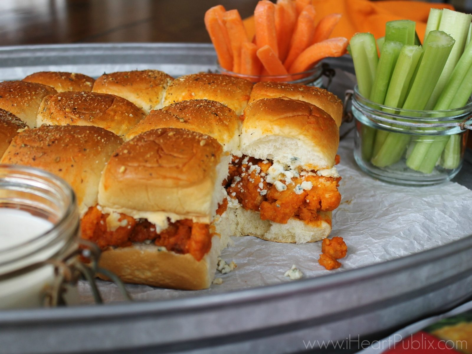 Buffalo Chicken Tender Sliders on I Heart Publix 1