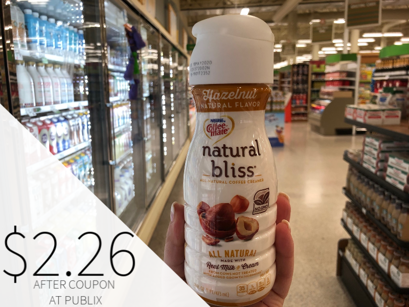 Nestle Coffee-mate Natural Bliss Creamer Only $2.26 At Publix on I Heart Publix