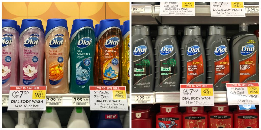 New Dial & Tone Coupon - Body Wash Only $2.50 on I Heart Publix