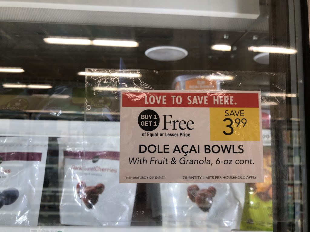 Dole Açaí Bowl Just 25¢ At Publix on I Heart Publix