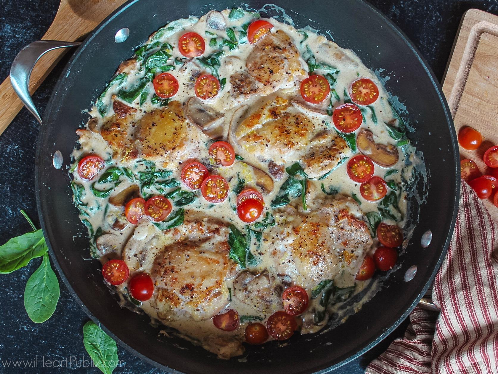 Easy Chicken Florentine on I Heart Publix