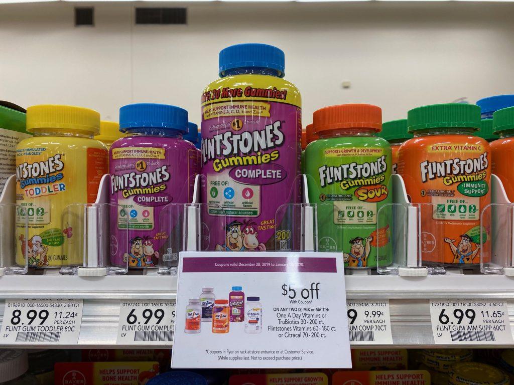 Flintstones Children's Multivitamin Supplement Just $ on I Heart Publix