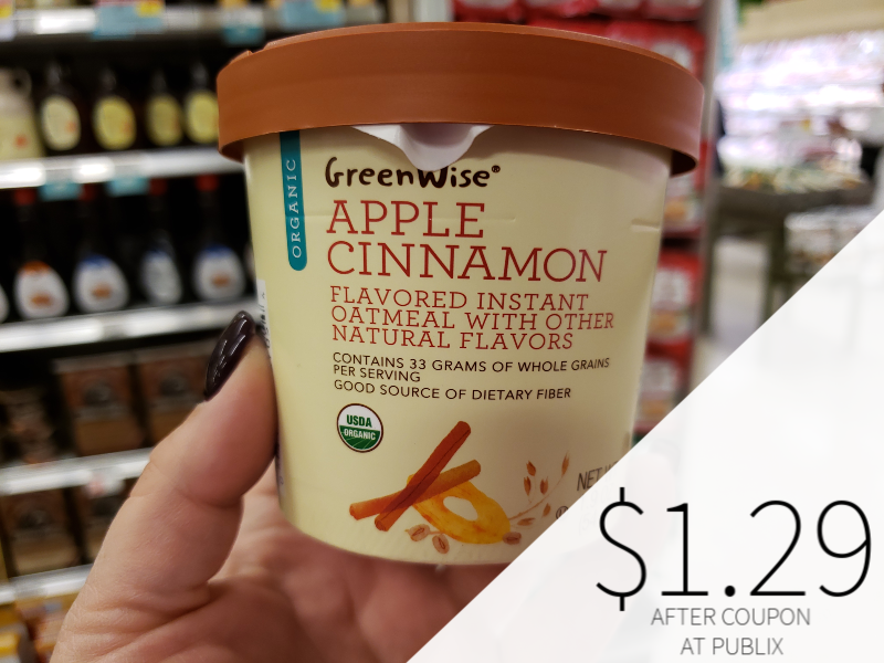 GreenWise Organic Instant Oatmeal Cups on I Heart Publix 1