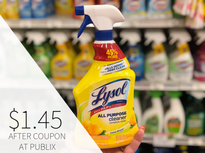 Lysol Spray Cleaner Just $1.45 At Publix on I Heart Publix