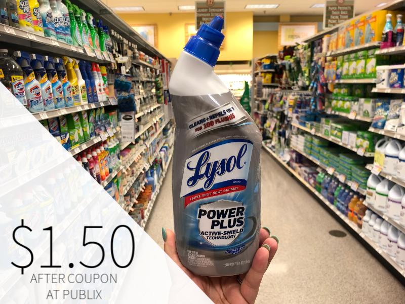 Lysol Toilet Bowl Cleaner Just $1.25 At Publix on I Heart Publix