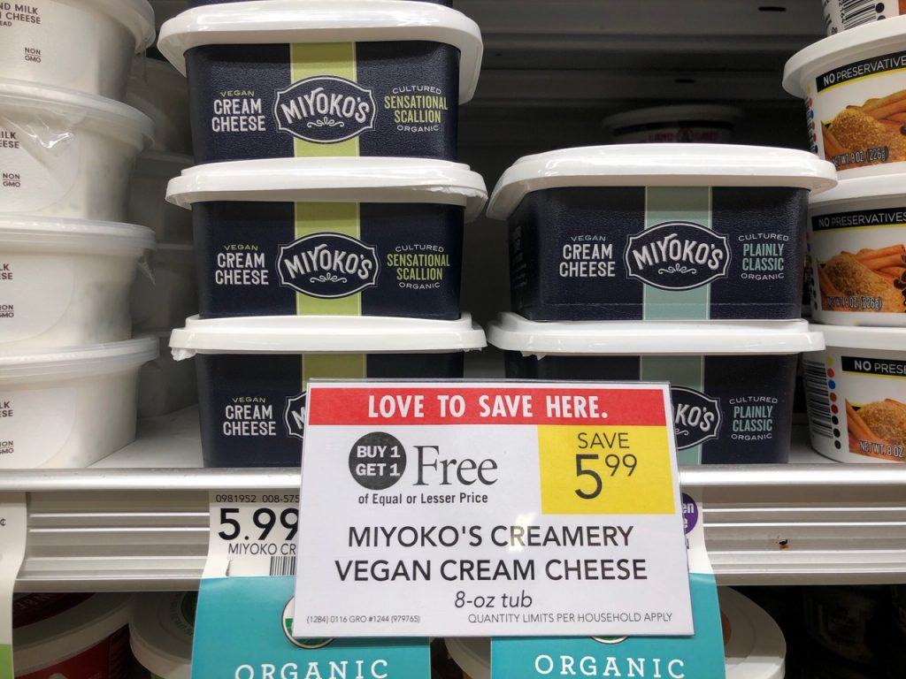 Miyoko's Creamery Vegan Cream Cheese on I Heart Publix