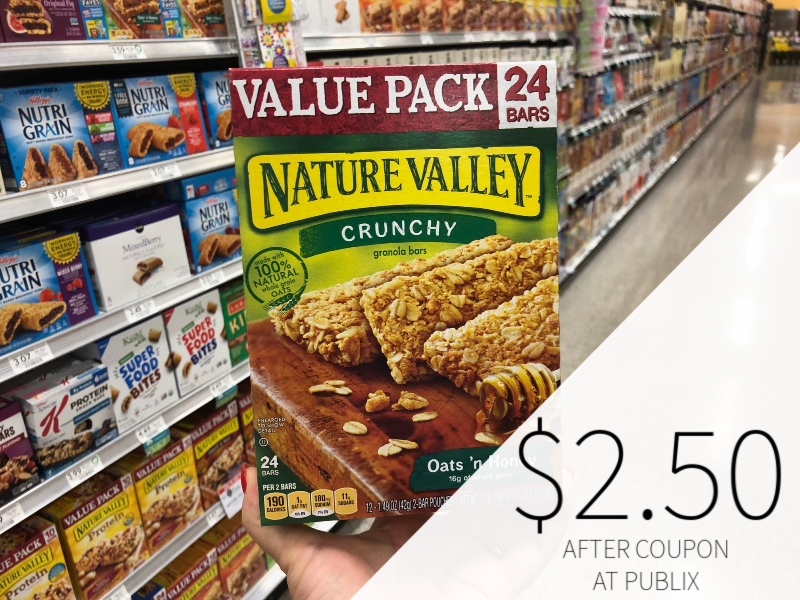 New Nature Valley & Fiber One Coupons - $2.50 At Publix on I Heart Publix