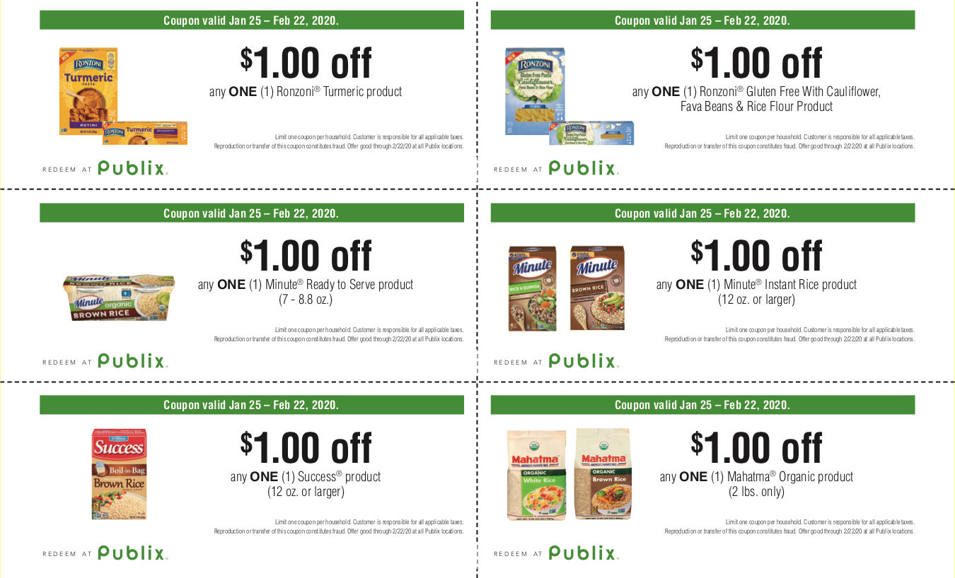 Save Up To $6 On Ronzoni, Minute, Success and Mahatma Rice Products At Publix on I Heart Publix 1